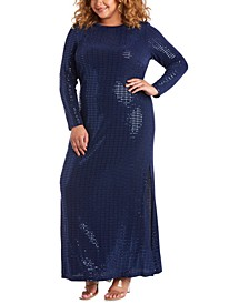 Trendy Plus Size Disco Dot Gown