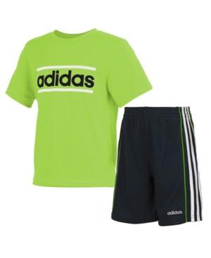 Adidas Originals ADIDAS TODDLER BOYS 2-PC. LOGO T-SHIRT & SHORTS SET