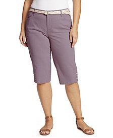 Gloria Vanderbilt Women's Plus Size Mila Belted Skimmer