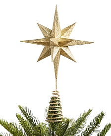 Christmas Cheer Gold Glitter Tree Topper, Created for Macy's