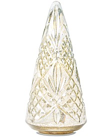 Gilded Age Glass Textured Table Top Tree with LED, Created for Macy's