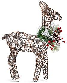Farmhouse Rattan Deer Table-Top Decoration, Created for Macy's
