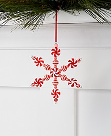 Peppermint Twist Candy Cane Snowflake Ornament, Created for Macy's