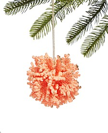 Seaside Pink Coral Ball Ornament, Created for Macy's