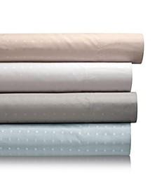 400 Thread Count Percale Blend Woven Dot  6-Pc. Sheet Set