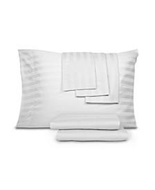 CLOSEOUT! 800 Thread Cotton Blend Cool Comfort Stripe Queen 6-Pc. Sheet Set