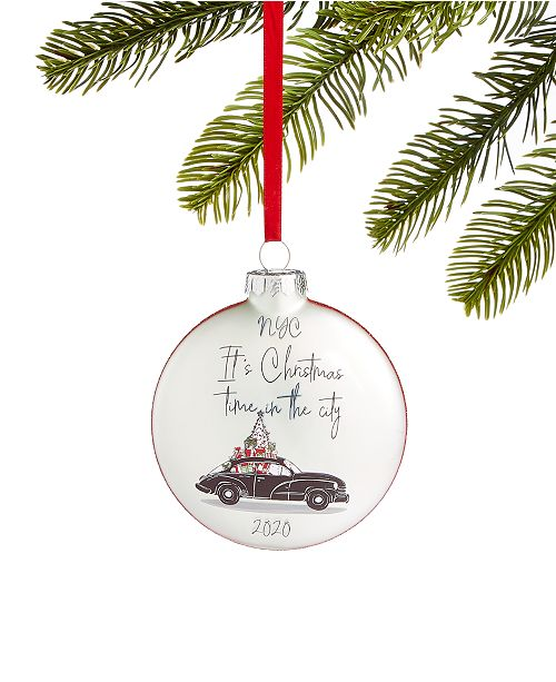 Macy Open On Christmas 2020 Holiday Lane New York 2020 Glass Ornament, Created for Macy's