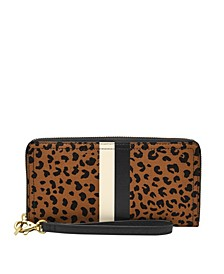 Women's Logan Zip Around Clutch with Stripe