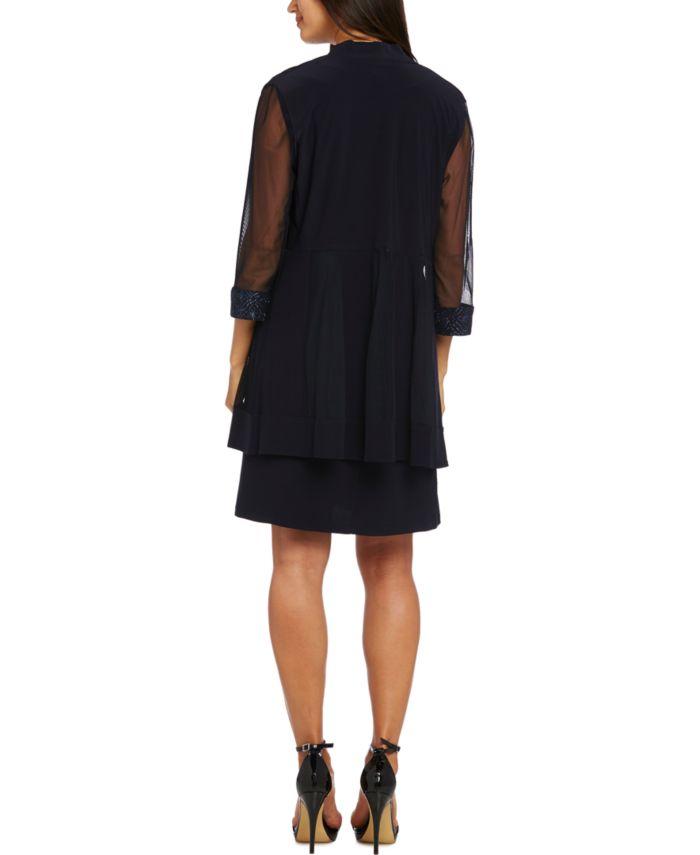 R & M Richards Petite 2-Pc. Embellished Jacket & Dress Set & Reviews - Dresses - Petites - Macy's
