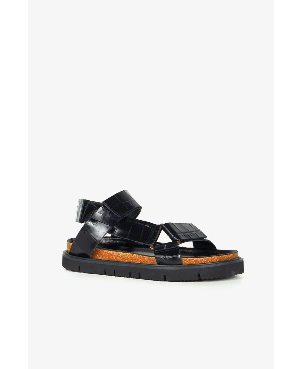 Women's Pressed Croc Lowform Flat Sandal Women's Shoes