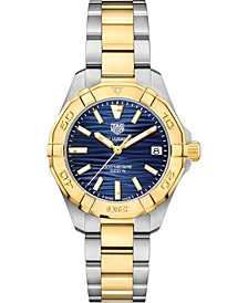Women's Swiss Aquaracer Stainless Steel & 18K Gold Plate Bracelet Watch 32mm