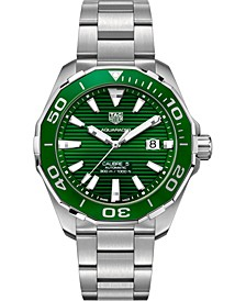 Men's Swiss Automatic Aquaracer Calibre 5 Stainless Steel Bracelet Watch 43mm