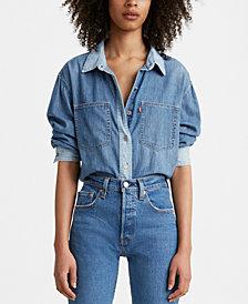 Levi's® Maple Cotton Denim Utility Shirt