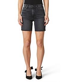 Hana Raw-Hem Mini Bermuda Shorts