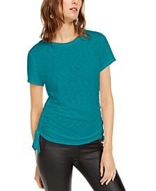 INC Plus Size Double Ruched T-Shirt, Created for Macy's