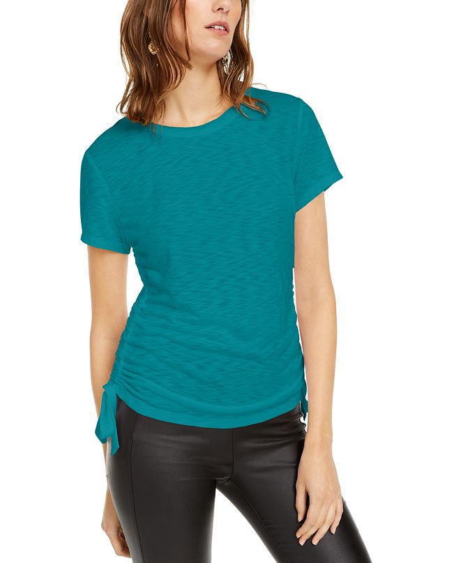INC International Concepts INC Plus Size Double Ruched T-Shirt, Created for Macy's