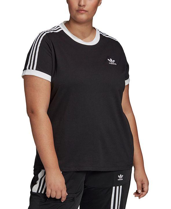 adidas Plus Size Women's 3 Stripe Tee
