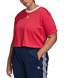 adidas Originals Plus Size Cotton Cropped Top
