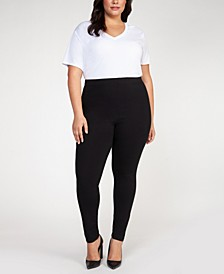 Plus Size Basic Pull-On Leggings