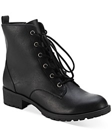 Frannie Lug Sole Combat Booties, Created for Macy's