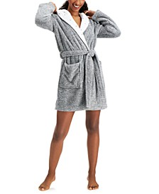 Star Trim Short Cozy Wrap Robe, Created for Macy's