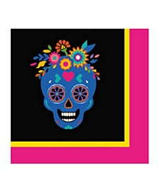 Day Of Dead Cocktail  Paper Napkin, Pack Of 32