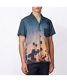 BOSS Men's Rhythm Photographic Print Shirt