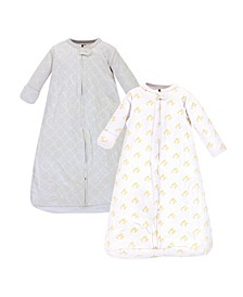Baby Girls and Boys Duck Long-Sleeve Wearable Sleeping Bag Sack, Pack of 2