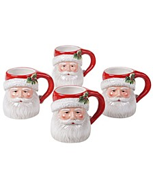 Magic of Christmas Santa 4 Piece Mugs