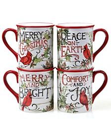 Evergreen Christmas 4 Piece Mug
