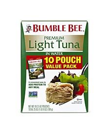 Premium Light Tuna in Water, Pack of 10
