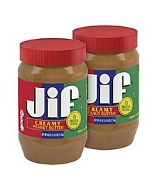 Creamy Peanut Butter, 40 oz, 2 Pack