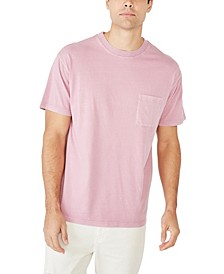 Men's Loose Fit Washed Pocket T-Shirt