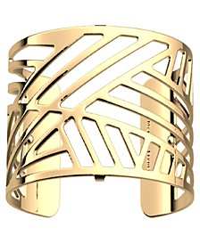 Geometric Openwork Wide Adjustable Cuff Bracelet, 40mm, 1.6in
