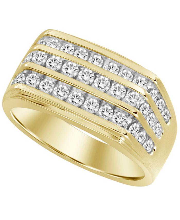 Macy's - Men's Diamond (1/2 ct.t.w.) Ring in 10k Yellow Gold