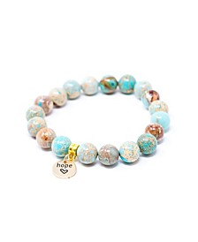 Jasper Sea Sediment with Hope Charm Give Back Bracelet