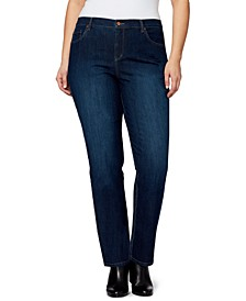 Trendy Plus Size Amanda Tapered Jeans Short Inseam