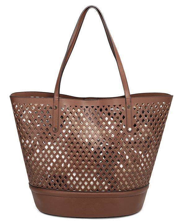 INC International Concepts INC Kourtney Laser-Cut Tote, Created For Macy's