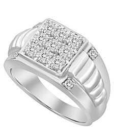 Men's Diamond (1/4 ct.t.w.) Ring in Sterling Silver