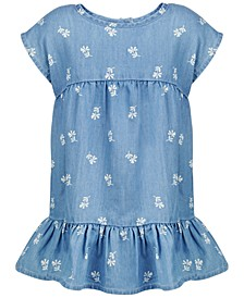 Baby Girls Floral-Print Denim Dress, Created for Macy's