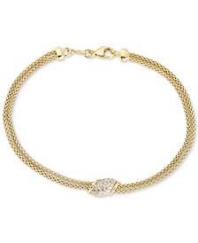 Diamond Cluster Bracelet (1/5 ct. t.w.) in 14k Gold