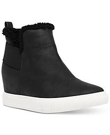 Kenley Faux-Fur Wedge Sneakers
