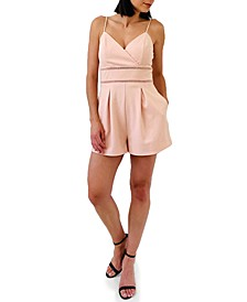 Juniors' Ladder-Trim Romper