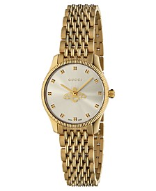 Women's Swiss G-Timeless Slim Gold-Tone PVD Stainless Steel Bracelet Watch 29mm