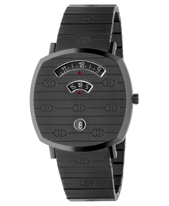 Gucci - Unisex Swiss Grip Gray PVD Stainless Steel Bracelet Watch 38mm