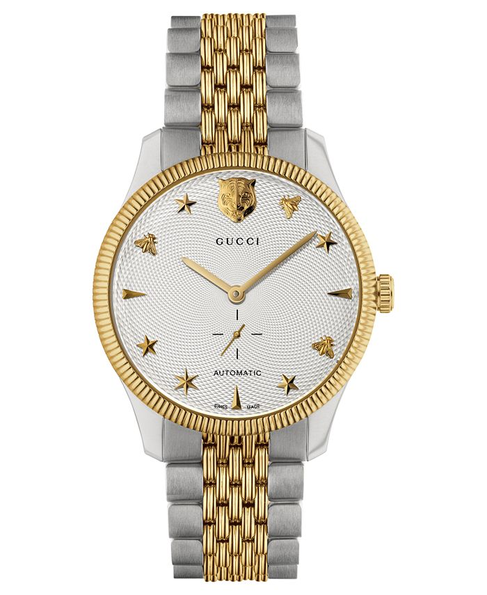 Gucci - Unisex Swiss G-Timeless Two-Tone PVD Stainless Steel Bracelet Watch 40mm