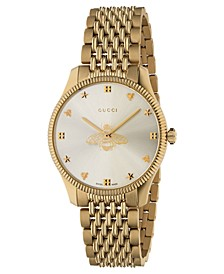 Women's Swiss G-Timeless Slim Gold-Tone PVD Stainless Steel Bracelet Watch 36mm