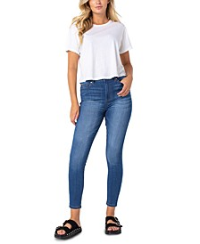 Juniors' Curvy Mid-Rise Skinny Jeans
