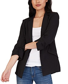 Juniors' Open-Front Blazer