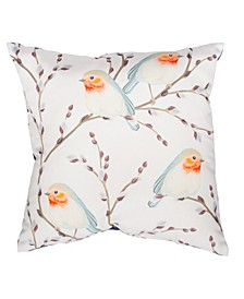 "Bird Print 20"" x 20"" Outdoor Decorative Pillow"